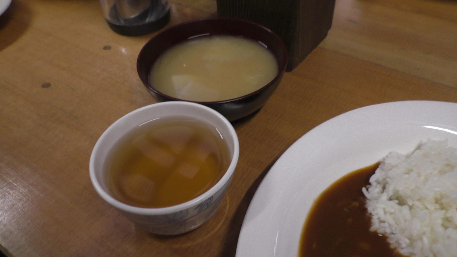 槍温泉小屋の夕食2