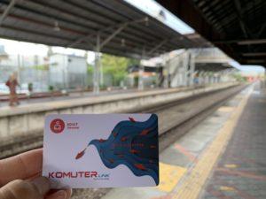 マレーシア-電車のカード